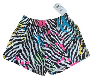 Soffe Paint splattered zebra print Shorts
