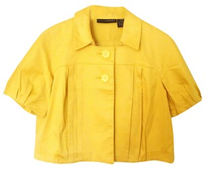 Grace Elements Spring Colorful Bold Crop Top Yellow Jacket
