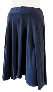 Anthropologie Ric Rac Knee Length Stretchy Skirt Navy Blue