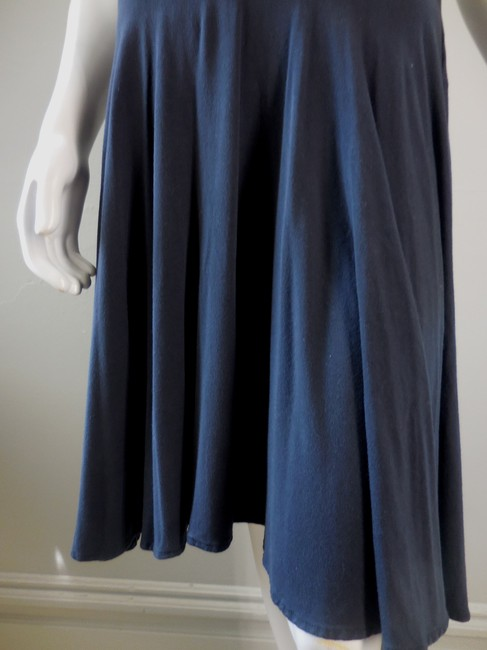 Anthropologie Ric Rac Stretchy Skirt Navy Blue