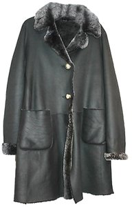 Maxfield Parish Bergdorf Goodman Shearling Leather Fur Coat