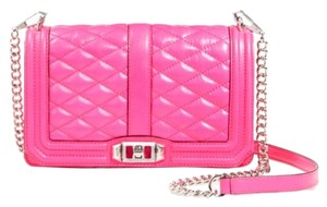 Rebecca Minkoff Quilted Love Pink Cross Body Bag