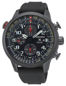 Seiko Seiko Men's Black Analog Watch SSC371