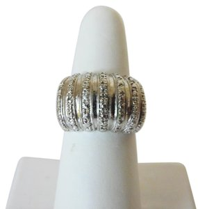 Technibond Technibond Diamond-Accented Dome Ring Size 8