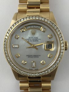 Rolex Rolex Day Date 18KT YG Diamond Dial & Diamond Bezel 18038 Watch