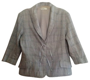 Ben Sherman Light Blue Plaid Blazer