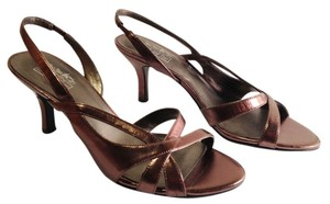 Coach and Four Principe Slingback Bronze Metallic Pumps