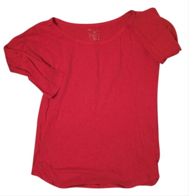 Gap Longsleeve Casual Basic Basics Size Xs Banana Republic J Crew Old Navy Blouse T Shirt Red