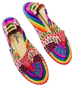 Mara Hoffman Rainbow Bird Lilac Canvas Espadrille Size 8 New In Box Sold Out Rare Multicolor Flats