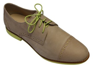 Cole Haan Alisa Oxford Taupe Size 9 Neon Womens Taupe/Yellow Flats