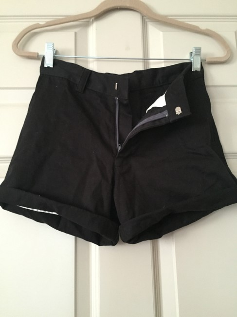 American Apparel High Waisted Tight Hipster Bermuda Shorts Black