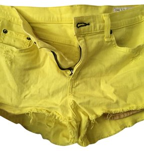 Rag & Bone And Distressed Mini/Short Shorts Yellow
