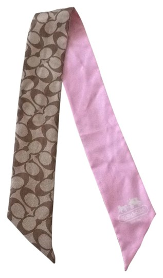 Preload https://item4.tradesy.com/images/coach-pink-and-brown-scarfwrap-4584508-0-0.jpg?width=440&height=440