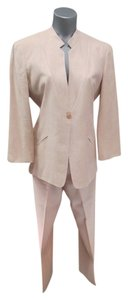 Armani Collezioni Armani Collezioni Pink Silk/Linen Blend Jacket (8) and Pants (10)