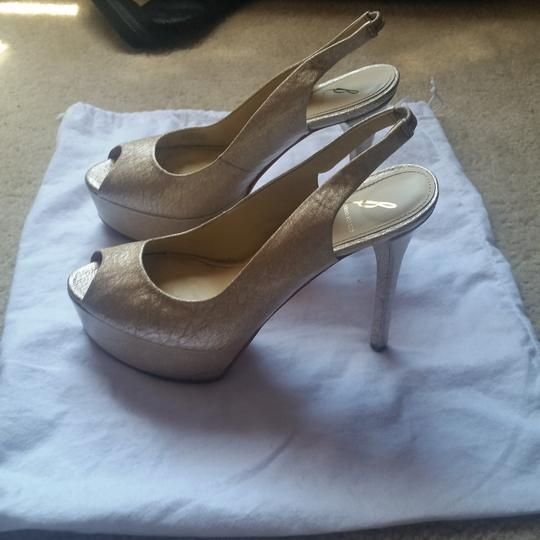 Brian Atwood Gold Pumps