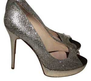 Jimmy Choo Gold Crown Gold/Silver Pumps