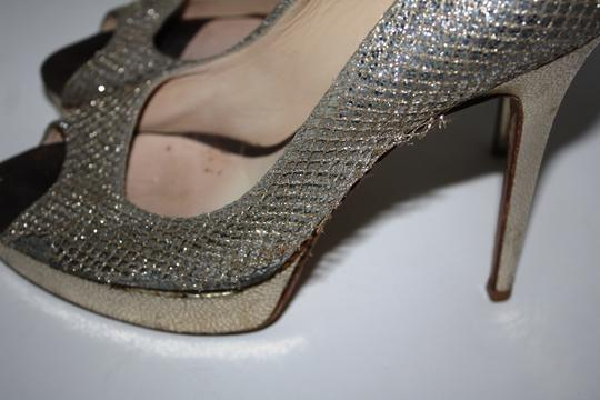 Jimmy Choo Crown Gold/Silver Pumps