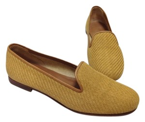 Stubbs & Wootton Yellow Flat Chic Preppy light brown Flats