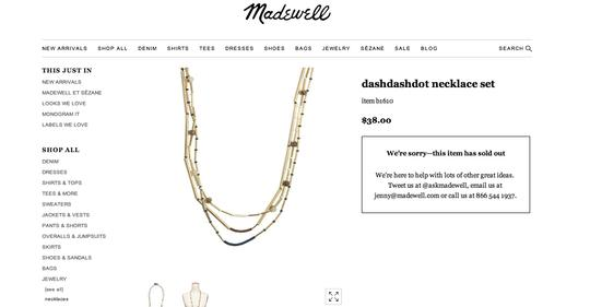 Madewell Madewell Necklace Set
