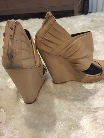Nordstrom Trouve Sandal Summer Wrap Nude Wedges