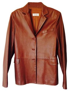 Barneys New York Brown Leather Jacket