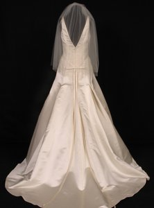 Your Dream Dress Exclusive S416vl Dark Ivory Waist Length Bridal Veil
