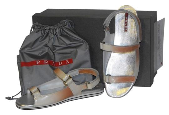 Preload https://item1.tradesy.com/images/prada-ombre-patent-leather-flats-two-tones-gladiator-logo-sandals-size-eu-395-approx-us-95-regular-m-4585450-0-0.jpg?width=440&height=440
