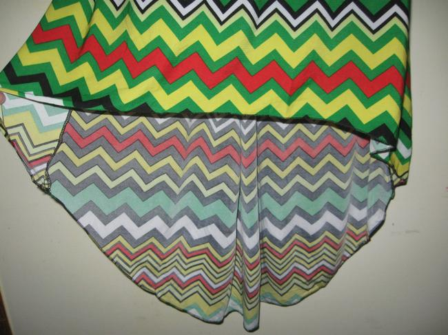 Jon & Anna short dress Multicolored Womens Striped Short Sleeve Hi Low Large New on Tradesy