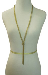 bebe Gold chain tassel necklace