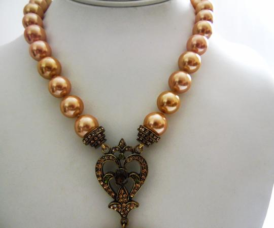 Heidi Daus Authentic Heidi Daus Beaded Drop Crystal Necklace