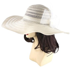 Other FASHIONISTA Off White Beige Cream Wide Brim Beach Sun Cruise Summer Large Floppy Dressy Hat Cap