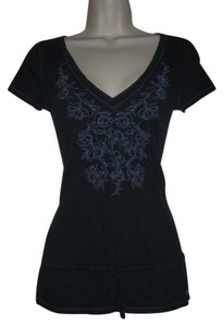 Hollister Womens Beads Top Navy Blue