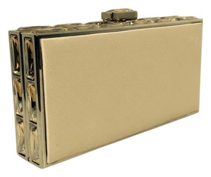 Judith Leiber Satin Bronze and Gold Clutch