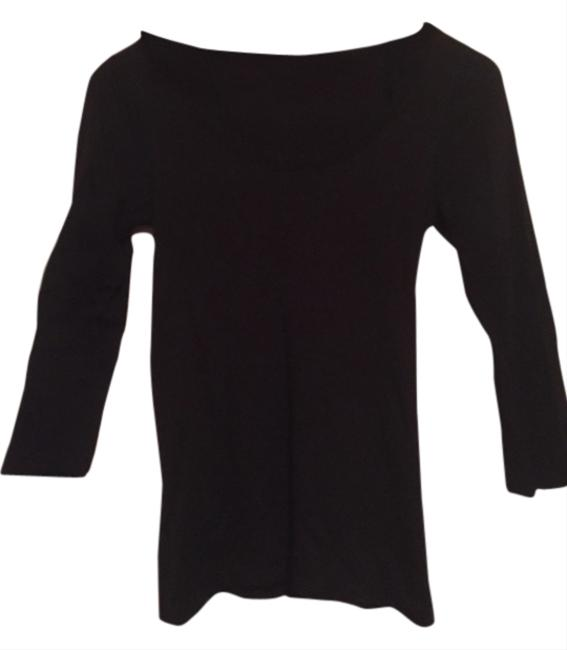 Bar III Macys Blouse Longsleeve Career Casual Dress Dressy Going Out Basic Basics T Shirt Black