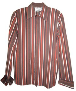 Akris Punto Button Down Shirt Multi-Color