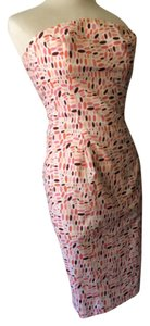 Diane von Furstenberg short dress White, pink, coral, orange on Tradesy