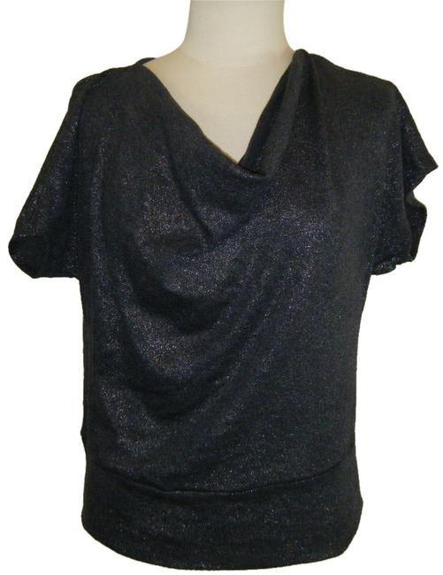Preload https://item5.tradesy.com/images/ny-collection-charcoal-w-silver-pm-draped-metallic-shimmer-dolman-sleeves-blouse-size-petite-10-m-4586329-0-0.jpg?width=400&height=650