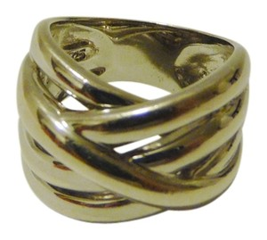 Silver Style .925 Sterling Silver Overlapping Ring Size 8