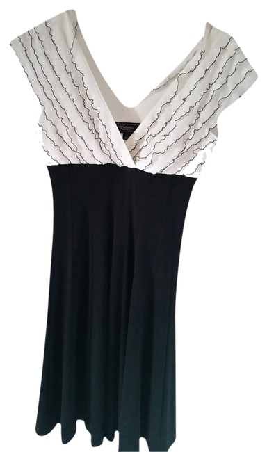 dressbarn short dress white and black on Tradesy