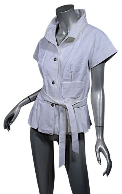 Preload https://item2.tradesy.com/images/piazza-sempione-white-cotton-waffle-cap-sleeve-jacket-w-belt-pretty-44-blouse-size-8-m-4586491-0-0.jpg?width=400&height=650