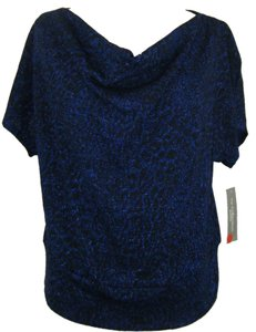 New York & Company Top SZ PL ROYAL BLUE W ROYAL LUREX
