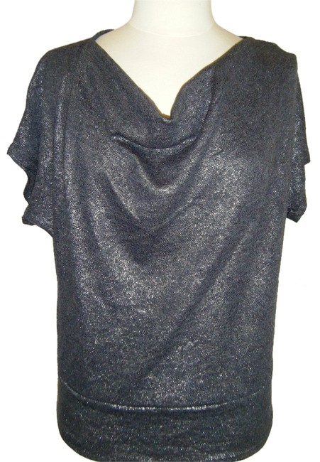 Preload https://item1.tradesy.com/images/new-york-and-company-ps-charcoal-w-metallic-threads-ny-collection-dolman-sleeves-draped-neckline-blo-4586575-0-0.jpg?width=400&height=650