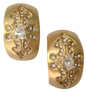 Nadri 18karat GF Crystal Clip On