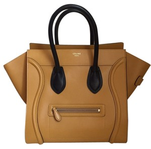 Céline Satchel in Mustard