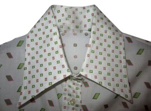 Etro Button Down Shirt White Pink Green
