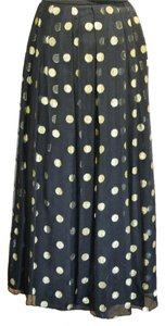 Yvette Vintage Skirt black/with gold mylar circles
