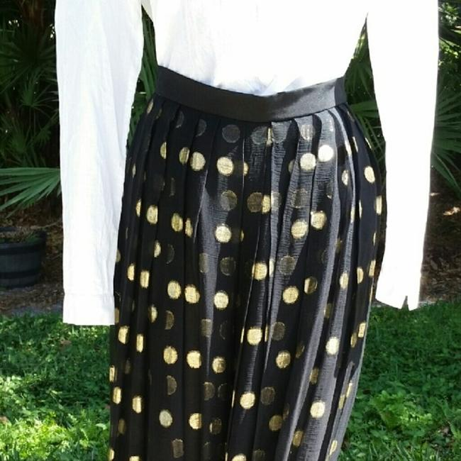Yvette Skirt black/with gold mylar circles