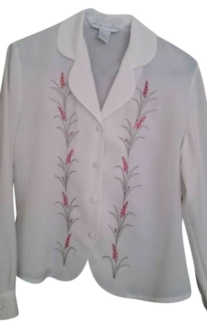 Preload https://item3.tradesy.com/images/white-women-s-vintage-with-embroidery-blouse-size-6-s-4587157-0-0.jpg?width=400&height=650
