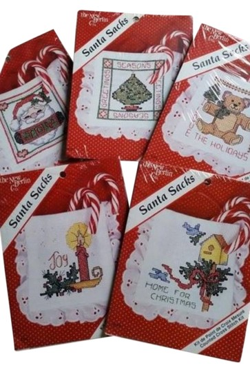 The New Berlin Co. NEW - The New Berlin Co. counted cross stitch(5) Santa sacks- assorted Christmas
