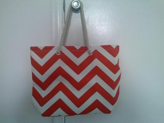 Other Red and White Chevron Beach Bag